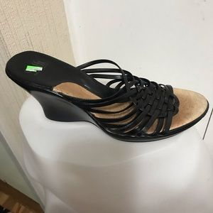 Sofft Black Wedge Sandals Size 10M